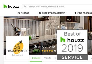 Gramophone won Best of Houzz 2019 Service
