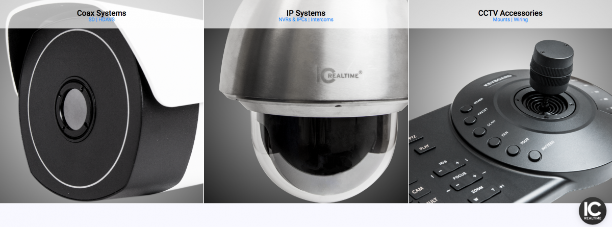 ICRealtime Products - Coax System - IP Systems - CCTV Accessories